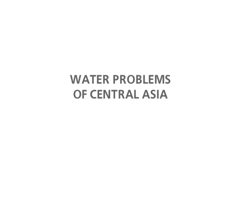 Water problems in Central Asia