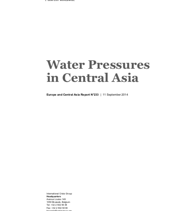Water Pressures in Central Asia