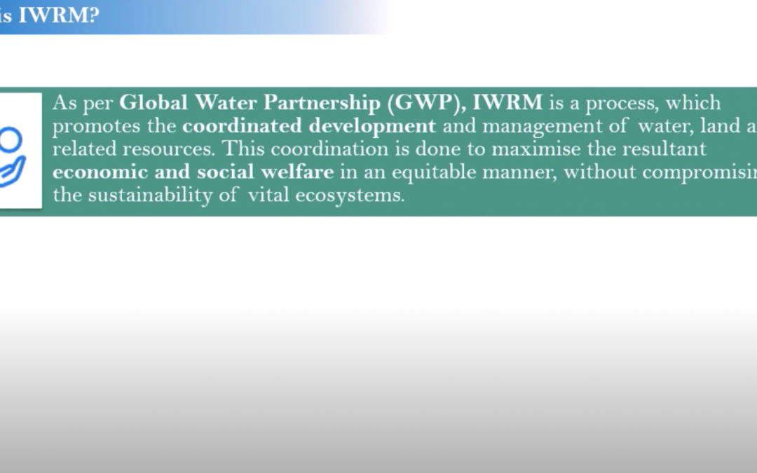 Module1 T1 Concept of Integrated Water Resource Management (IWRM)